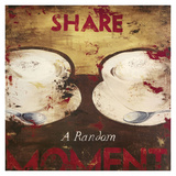 Share A Random Moment Giclée-Druck von Rodney White