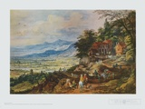 Town in a Valley Collectable Print by Joss Momper