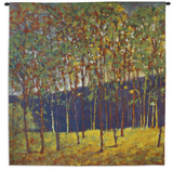 Green Gold Stand Wall Tapestry by Ken Elliott