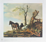 Landscape with Figures Collectable Print by Philips Wouwerman