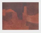 Abstract Composition, Maroon コレクターズプリント : セルジュ・ポリアコフ
