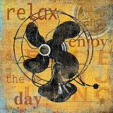 Relax And Enjoy the Day Print by Carol Robinson