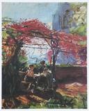 Max Slevogt - The Wine Alcove, 1917 - Tablo