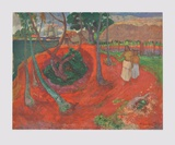 Landscape at the Beach of Tahiti Collectable Print by Paul Gauguin