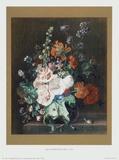 Flowers II Samlertryk af Jan Huysum