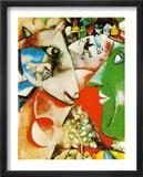 Le village et moi Affiche par Marc Chagall