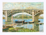 The Seine Bridge at Argenteuil Collectable Print by Claude Monet