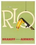 Braniff Air Rio c.1960s Impression giclée