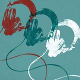 Headphones Posters by Stella Bradley