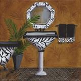 Safari Sink in Zebra Posters af Cat Heartgeaves