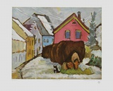 Hay Wagons , 1911 Prints by Gabriele Muenter