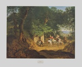 Well in the Woods near Ariccia Collectable Print by Adrian Ludwig Richter