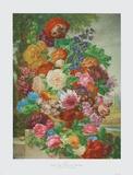 Flowers in a Landscape Samlertryk af Joseph Nigg