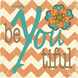beYOUtiful Print by Jo Moulton