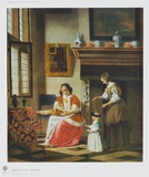 Interior Scene Collectable Print by Pieter Hooch