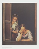 A Girl and her Ladys-Maid Collectable Print by Bartolomé Estéban Murillo