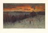 Landscape at Dawn Samlertryk af George Inness