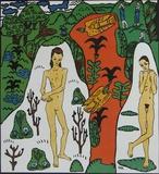 Das Maedchen Li und Ich Poster von Oskar Kokoschka