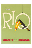 Braniff Air Rio c. años1960 Pósters
