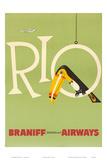 Braniff Air, Rio, cerca de anos 1960 Pôsters