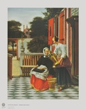 A Lady and her Maid Collectable Print by Pieter Hooch