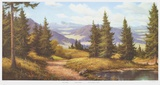 Sunny Highland Collectable Print by Ludwig Muninger