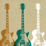 Guitars Art by Stella Bradley