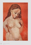 Nude on red Verzamelposters van Pablo Picasso