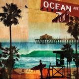 Straße zum Ozean Kunstdruck von Charlie Carter