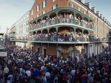 People Celebrating Mardi Gras Festival, New Orleans, Louisiana, USA Photographic Print by  Panoramic Images