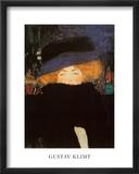 Mujer con sombrero Láminas por Gustav Klimt