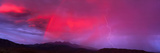 Sunset with Lightning and Rainbow Four Peaks Mountain AZ Photographic Print by  Panoramic Images