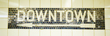 USA, New York City, Subway Sign Fotografie-Druck von Panoramic Images