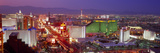 Buildings Lit Up at Dusk in a City, Las Vegas, Clark County, Nevada, USA Photographic Print by  Panoramic Images