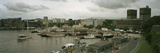 High Angle View of Harbor and a City Hall, Oslo, Norway Photographic Print by  Panoramic Images
