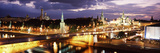 City Lit Up at Night, Red Square, Kremlin, Moscow, Russia Photographic Print by  Panoramic Images