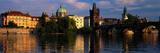 Charles Bridge Vltava River Prague Czech Republic Photographic Print by  Panoramic Images