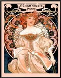 Alphonse Mucha Champenois Paris Art Print Poster Posters