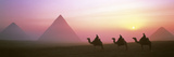 Giza Pyramids Egypt Photographie par Panoramic Images 