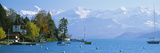 Lake on the Mountainside, Lake Thun, Hilterfingen, Canton of Bern, Switzerland Photographic Print by  Panoramic Images
