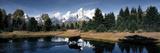 Panoramic Images - Moose and Beaver Pond Grand Teton National Park WY USA Fotografická reprodukce