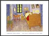 Bedroom Posters by Vincent van Gogh