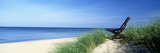 Beach Chair on the Beach, Lake Michigan, Holland, Michigan, USA Photographic Print by  Panoramic Images