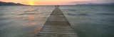 Pier at Sunset in the Sea, Alcudia, Majorca, Spain Photographic Print by  Panoramic Images