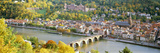 Aerial View of a City at the Riverside, Heidelberg Castle, Heidelberg, Baden-Wurttemberg, Germany Photographic Print by Panoramic Images 