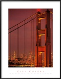 City Colors, San Francisco Bridge Print by Stephen Simpson