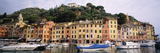 Harbor Houses Portofino Italy Photographic Print by  Panoramic Images