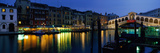 Grand Canal and Rialto Bridge Venice Italy Photographie par Panoramic Images