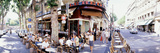 Group of People at a Sidewalk Cafe, Paris, France Photographic Print by  Panoramic Images