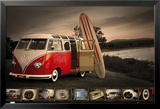 VW- Kombi Surfboard Affiches